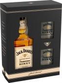 Jack Daniels Tennessee Honey 0,7l kazeta + 2 sklenice