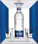 Finlandia Vodka 0,7l - kazeta + 2x sklenička