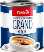 Tatra Grand zahuštěné mléko neslazené 9% 310g - plech