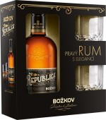 Republica Exclusive Božkov 0,5l - kazeta 2x sklo