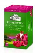Ahmad Tea Zelený čaj smalinou a granátovým jablkem 20x2g