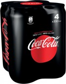 Coca cola ZERO 4 x 0,33l multipack - plech