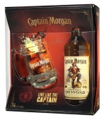 Captain Morgan Spiced Gold 0,7l kazeta + korbel