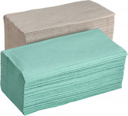 Papírové ručníky ZZ 1vr šedé 250ks