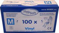 Rukavice jednorázové bílé vinyl vel. M - 100ks