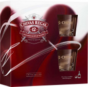 Chivas Regal 12 let 0,7l - kazeta 2x sklenička