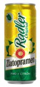 Zlatopramen Radler citrón 0,4l - plech