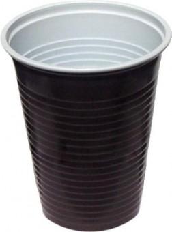Kelímek plastový hnědobílý 0,2l - 100 ks