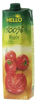 Hello rajčatová šťáva 100% 1l