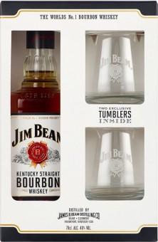 Jim Beam 0,7l kazeta + 2x sklo