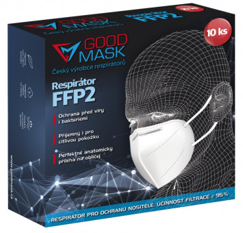 Respirátor FFP2 Good mask - 10ks