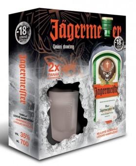 Jägermeister 0,7l kazeta 2x panák