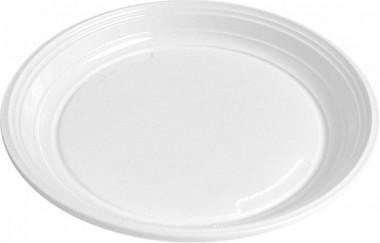 Talířek plastový mělký 20,5 cm - 100 ks