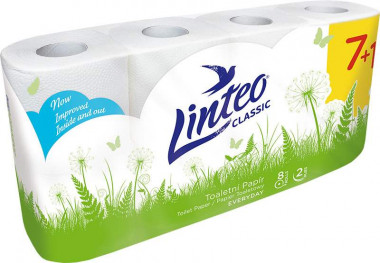 Toaletní papír Linteo Classic 2vr. 7+1 x15m