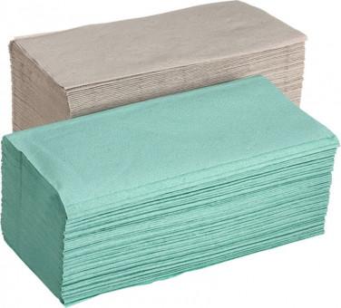Papírové ručníky ZZ 1vr zelené 250ks