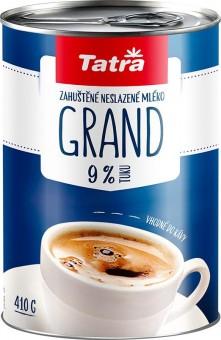 Tatra Grand zahuštěné mléko neslazené 9% 410g - plech