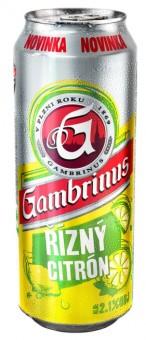 Gambrinus Řízný citrón 0,5l - plech