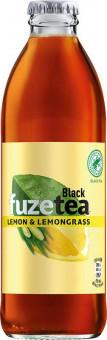 Fuze Tea Black Ice Tea lemon & lemongrass 0,25l sklo - vratná lahev