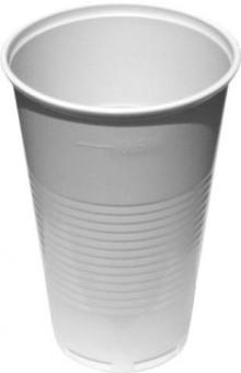 Kelímek plastový bílý 0,5l - 50 ks