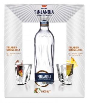 Finlandia Coconut 0,7l - kazeta + 2x panák
