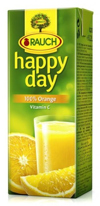 Rauch Happy Day pomeranč 100% 0,2l