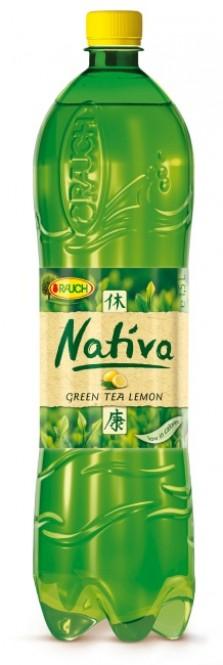 Rauch NATIVA zelený čaj s citronem 1,5l - PET