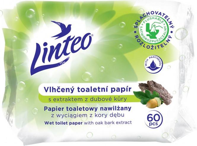Vlhčený toaletní papír Linteo dubová kůra 60 ks