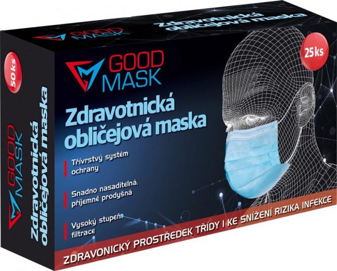 Zdravotnická obličejová maska (rouška) 25ks