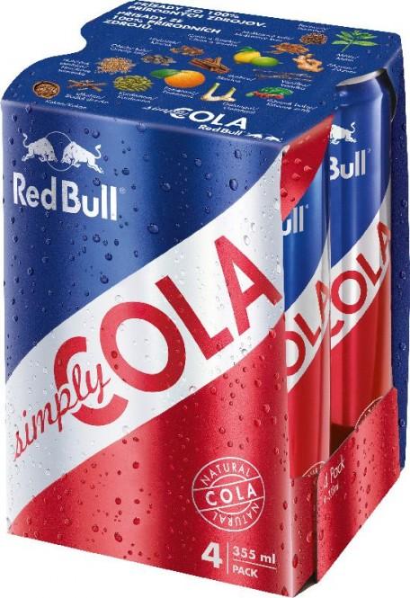 "Red Bull Organics Simply Cola 0,355l plech - ""4pack"""