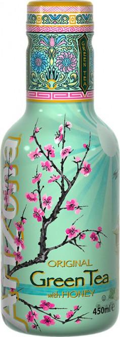 AriZona Green tea Honey 0,45l - PET