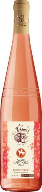 Svatomartinské Zweigeltrebe rosé 0,75l - Habánské sklepy