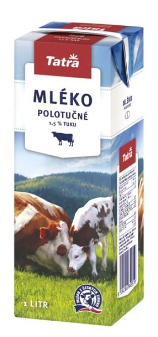Tatra mléko polotučné BLOCK 1l (6 ks)