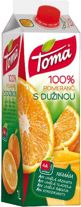 Toma Pomeranč s dužninou 100% 1l