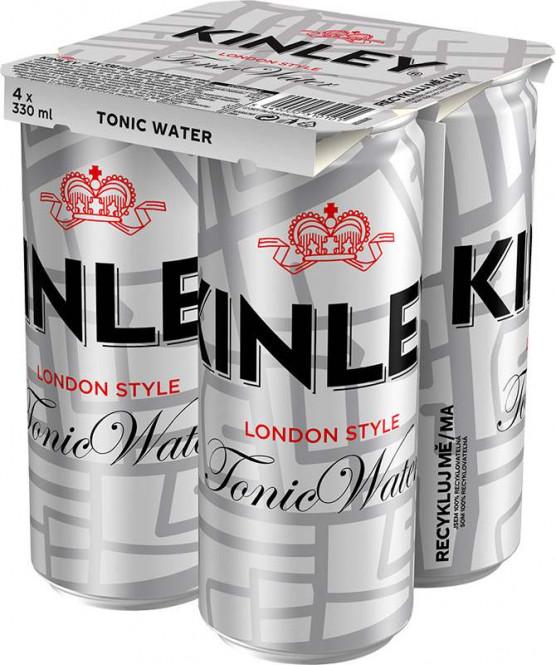 Kinley Tonic 4 x 0,33l multipack - plech