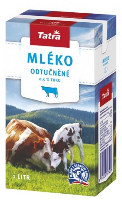 Tatra mléko odtučněné 1l - 0,5% (12 ks)