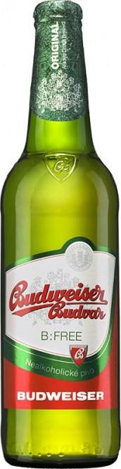 Budweiser Budvar nealkoholické 0,5l - vratná lahev