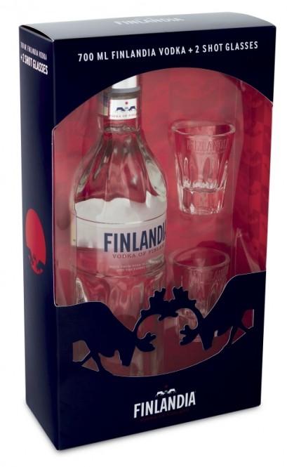 Finlandia Vodka 0,7l - kazeta + 2x panák