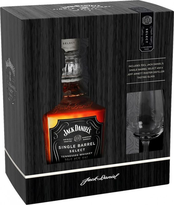 Jack Daniels Single barrel 0,7l kazeta + 1x sklo