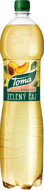 Toma čaj zelený broskev 1,5l - PET