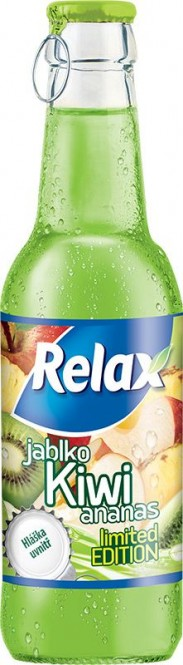 Relax kiwi 0,25l sklo