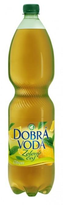 Dobrá voda čaj zelený s citronem 1,5l - PET