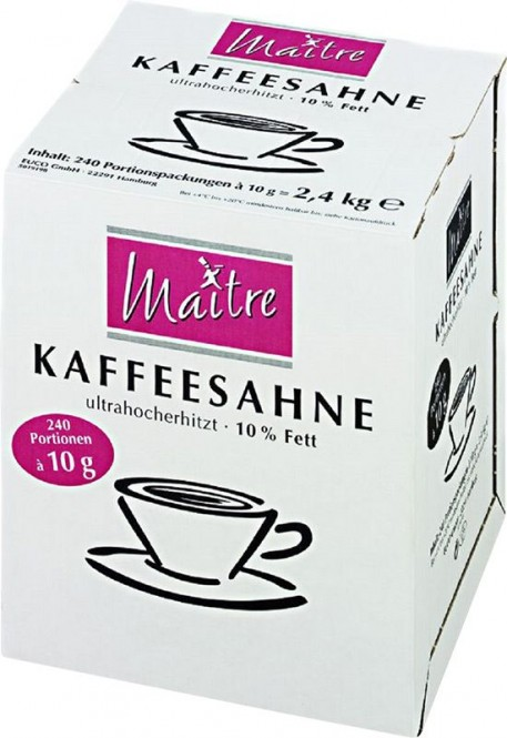 Smetana do kávy Maitre 10g/240ks