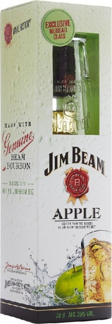 Jim Beam Apple 0,7l box + sklenice