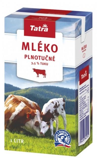 Tatra mléko plnotučné 1l - 3,5% (12 ks)