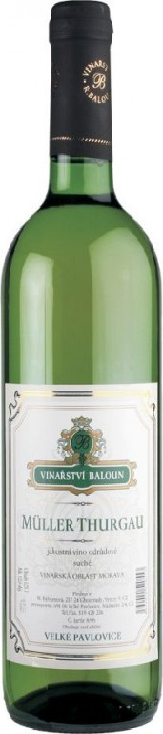 Muller Thurgau 0,75l - Baloun