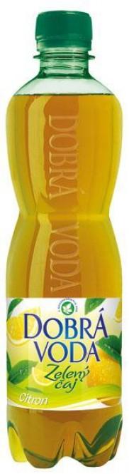 Dobrá voda čaj zelený s citronem 0,5l - PET