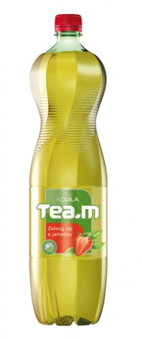 Aquila čaj zelený s jahodou 1,5l - PET (6 ks)