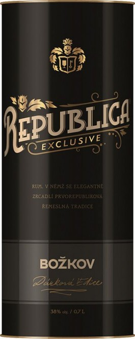 Republica Exclusive Božkov 0,7l - tuba