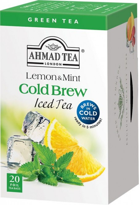 Ahmad Tea Cold Brew Green Lemon & Mint 20x2g