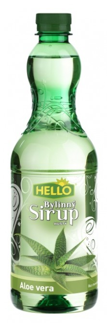 Ovocný bylinný sirup Hello aloe vera 900g - PET